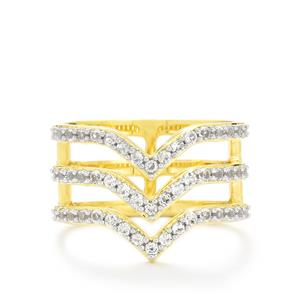 White Topaz Ring  in Vermeil 0.94cts