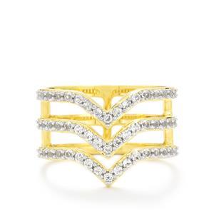 0.94ct White Topaz Gold Vermeil Ring