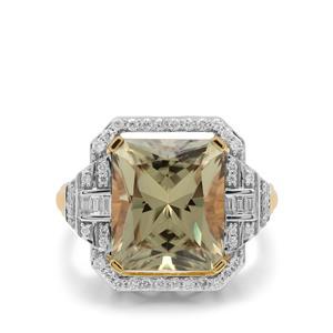 Csarite® & Diamond 18K Gold Ring MTGW 9.37cts