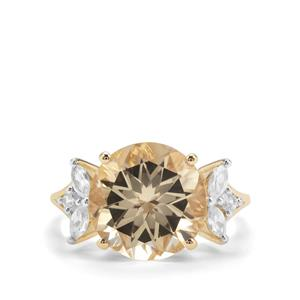 Serenite Ring with White Zircon in 9K Gold 5.79cts