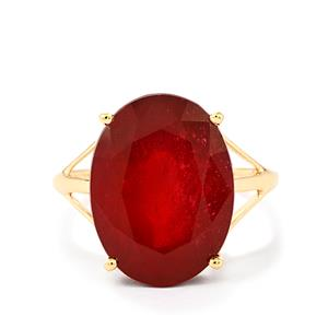 Malagasy Ruby Ring in 9K Gold 13.61cts (F)