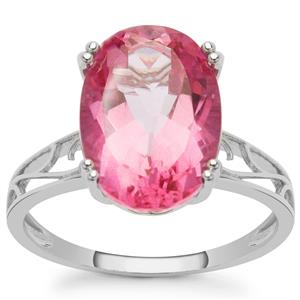 Pure Pink Topaz Ring in Sterling Silver 7.15cts