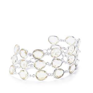 Optic Quartz Bracelet in Sterling Silver 63.13cts