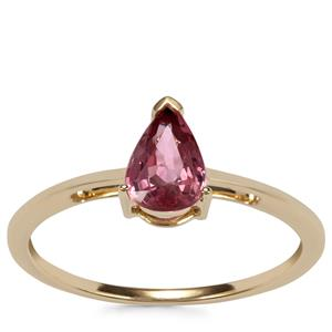 Padparadscha Sapphire Ring in 10K Gold 0.86ct