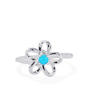 Sleeping Beauty Turquoise Ring in Sterling Silver 0.17ct