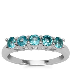 Russian Apatite Ring in Sterling Silver 0.88ct