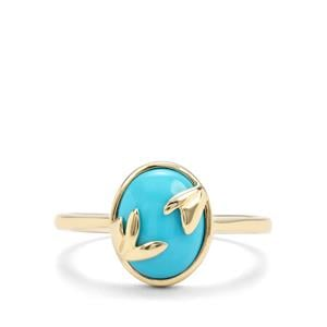 2.12ct Sleeping Beauty Turquoise 9K Gold Ring