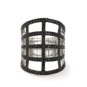 2.14ct Black Spinel Sterling Silver Ring
