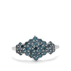 1.10ct Blue Diamond 9K White Gold Ring