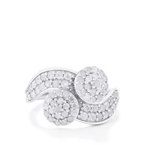 1.10ct Diamond Sterling Silver Ring