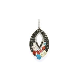 Excotic Gems Pendant in Sterling Silver 5.38cts