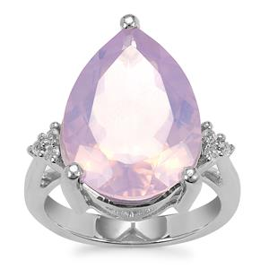 Sapucaia Quartz Ring with White Topaz in Sterling Silver 9.58cts