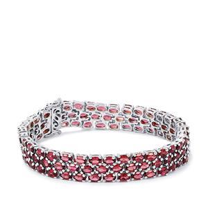Rajasthan Garnet Bracelet  in Sterling Silver 30.82cts