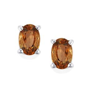 1.35ct Cognac Zircon Sterling Silver Earrings