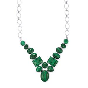 Malachite Necklace in Sterling Silver 105.53cts
