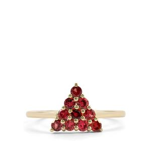 Mahenge Red Spinel Ring in 10K Gold 0.51ct