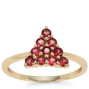 Mahenge Red Spinel Ring in 9K Gold 0.51ct
