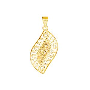Gold Tone Sterling Silver Pendant 1.96g