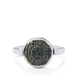 1/8ct Black & White Diamond Sterling Silver Reversible Ring