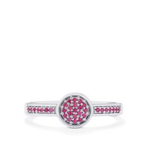 0.14ct Burmese Ruby Sterling Silver Ring