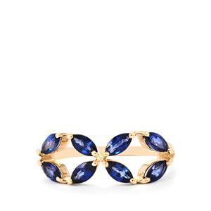 1.41ct Sri Lankan Sapphire 9K Gold Ring