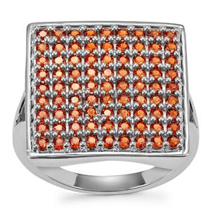 Anthill Garnet Ring in Sterling Silver 1.41cts