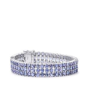 34.23ct Tanzanite Sterling Silver Bracelet