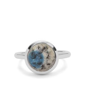 4ct K2 Jasper Sterling Silver Aryonna Ring