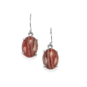 20ct Inca Rose Rhodochrosite Sterling Silver Aryonna Earrings