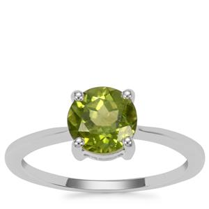 Red Dragon Peridot Ring in Sterling Silver 1.48cts