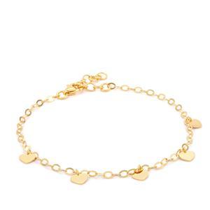 "7"" Midas Altro Heart Bracelet 1.95g"