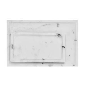 Set of 2 -  1 Small & 1 Big Plain Platter made of Banswara Marble
