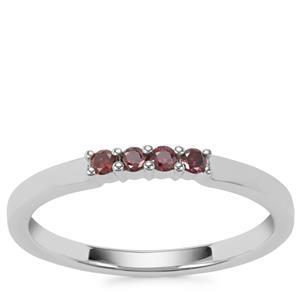 Purple Diamond Ring in Sterling Silver 0.11ct