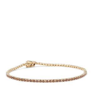 Red Diamond Bracelet in 9K Gold 1.95ct