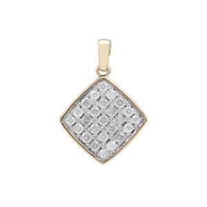1/2ct Diamond 9K Gold Pendant