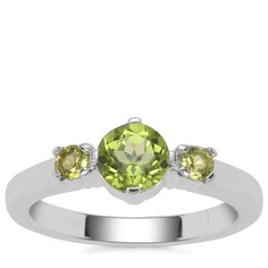 Red Dragon Peridot Ring in Sterling Silver 1.15cts