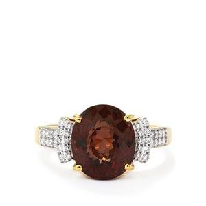 Colour Change Garnet & Diamond 18K Gold Lorique Ring MTGW 6.13cts