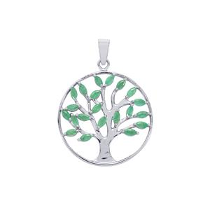 Carnaiba Brazilian Emerald Pendant in Sterling Silver 1.58cts