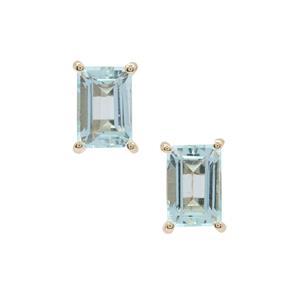 Aquaiba™ Beryl Earrings in 9K Gold 1.20cts