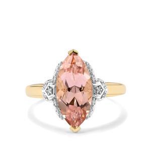 Galileia Topaz & Diamond 9K Gold Ring ATGW 3.67cts