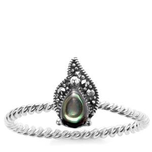 Paua Jewels of Valais Ring with Natural Marcasite in Sterling Silver