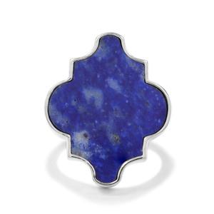 15.48ct Sar-i-Sang Lapis Lazuli Sterling Silver Ring