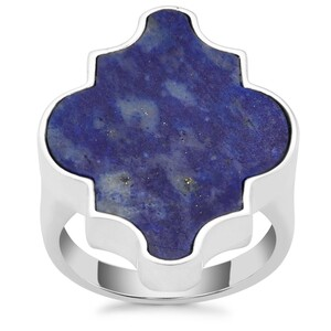 Sar-i-Sang Lapis Lazuli Ring in Sterling Silver 15.48cts