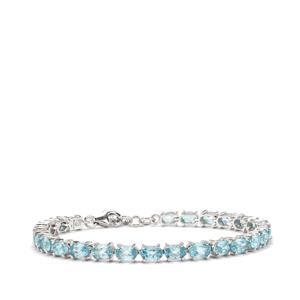 Ratanakiri Blue Zircon Bracelet in Sterling Silver 16.73cts