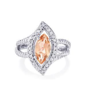 2.57ct Galileia & White Topaz Sterling Silver Ring