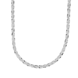 """18"""" Sterling Silver Couture Diamond Cut Criss Cross Chain 4.80g"""