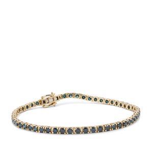 4.95ct Blue Diamond 9K Gold Bracelet