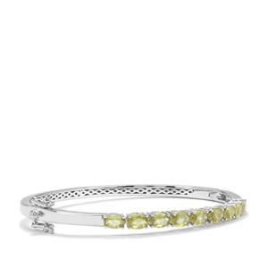 Ambilobe Sphene Oval Bangle in Sterling Silver 4.53cts