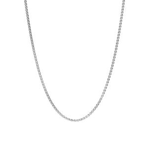 "22"" Sterling Silver Dettaglio Spiga Slider Chain 2.35g"