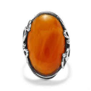 15.13ct American Fire Opal Sterling Silver Ring